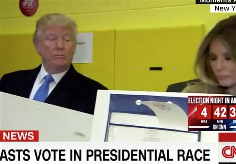 ترامب یشک أن زوجته قد صوتت لصالحه!