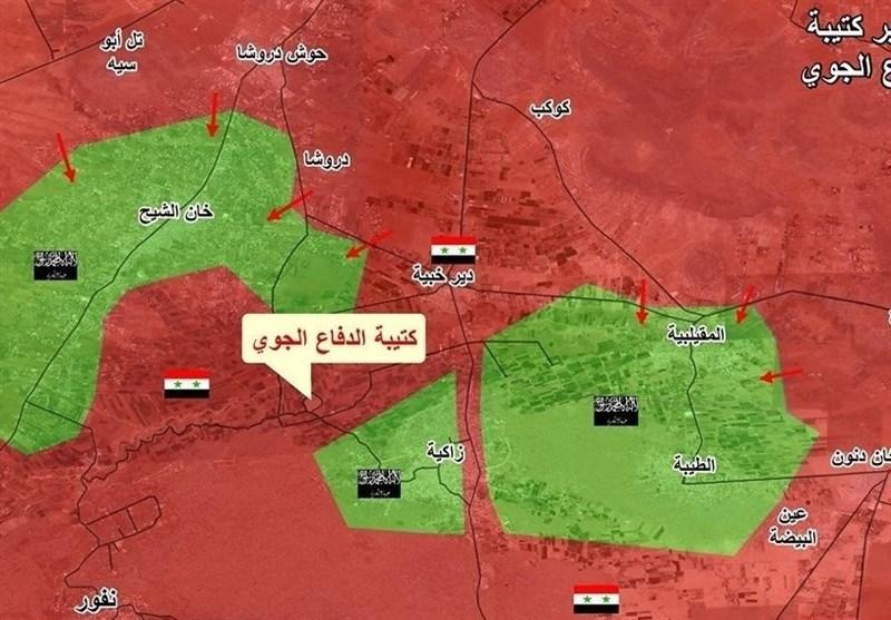 حصن الإرهابیین جنوب غرب دمشق یلفظ أنفاسه الأخیرة