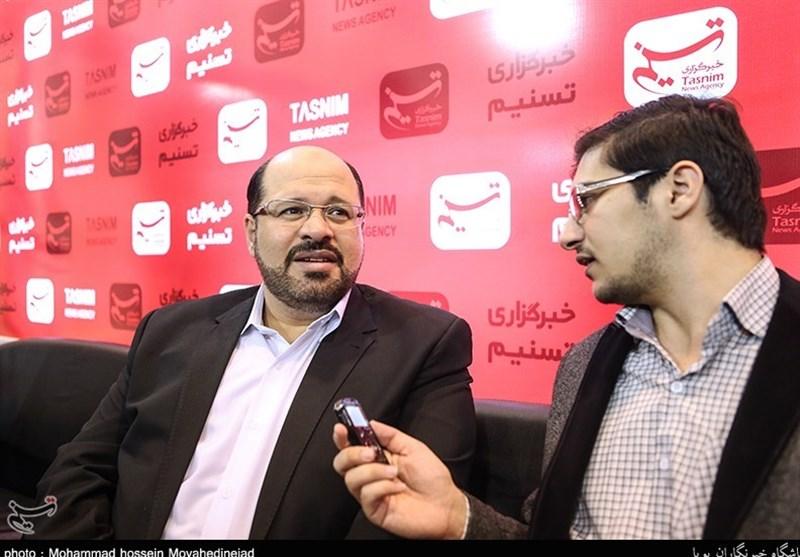 ممثل حرکة المقاومة الإسلامیة حماس یزور جناح تسنیم