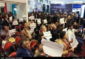 اعتراض متقاضیان مسکن مهر پردیس در نمایشگاه مطبوعات
