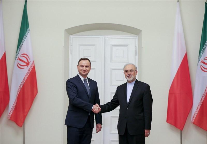 صالحی کی پولینڈ کے صدر سے ملاقات + تصاویر