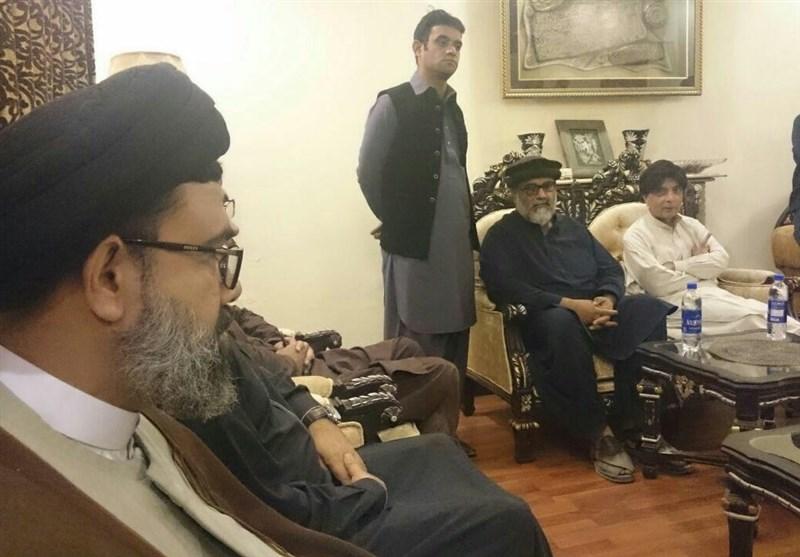 وفاقی وزیر داخلہ کی علامہ راجہ ناصر عباس کی ہمشیرہ کے انتقال پہ انکے گھر آمد/ تصویری رپورٹ