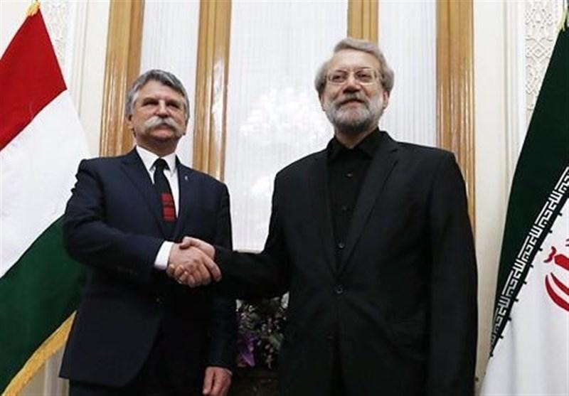 Iranian, Hungarian Speakers Hold Talks in Tehran