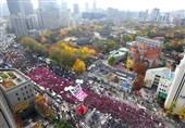 ادامه تظاهرات مردم کره جنوبی برای استعفای رئیس جمهور