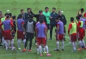 تمرین تیم ملی فوتبال در مالزی