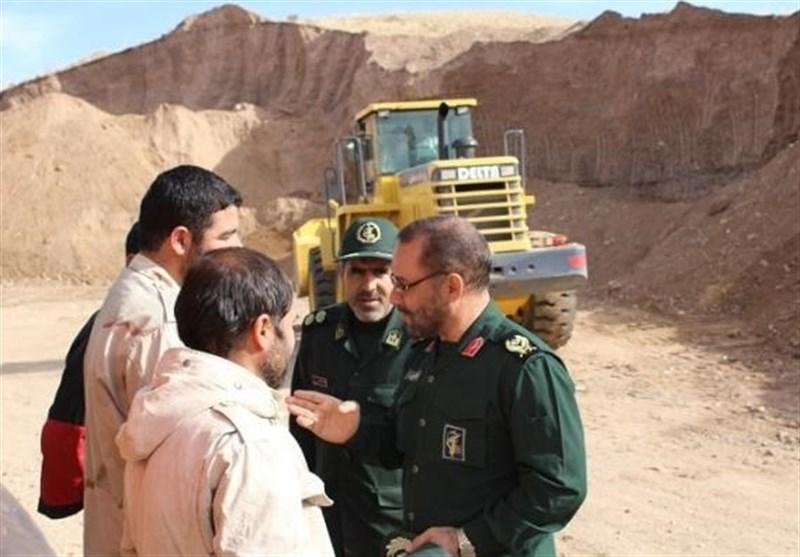 بازدید فرمانده سپاه کردستان از اجرای طرح شهید شوشتری در بیجار