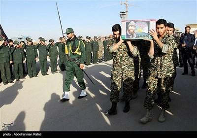مراسم استقبال از شهید مدافع حرم شهید محمد حسین بشیری در همدان