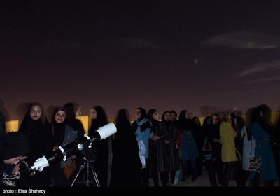 رصد پدیده ابر ماه در یزد