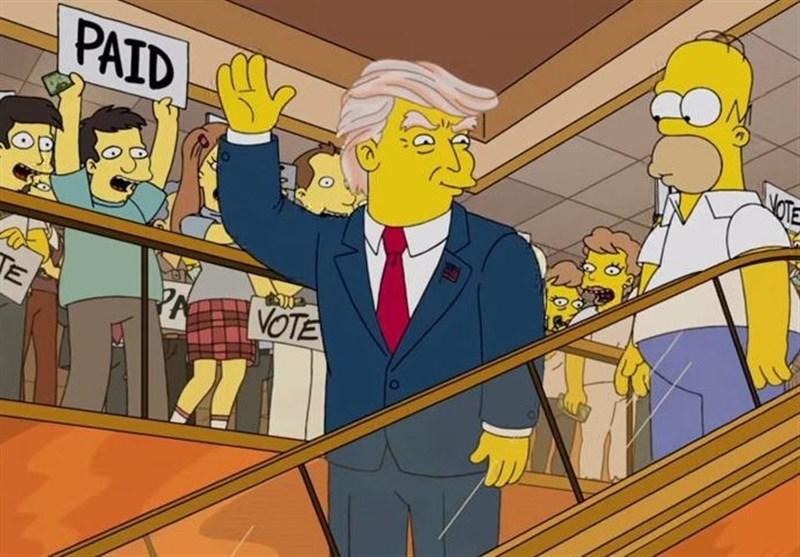 سیمپسونها دوباره ترامپ را دست انداختند+فیلم