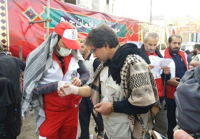 1572 نفر از زائران اربعین حسینی در بزرگراه کربلا اسکان یافتند/ توزیع بیش از 10 هزار تخته پتو