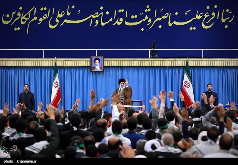 Ayatollah Khamenei Meets A Group of People from Isfahan