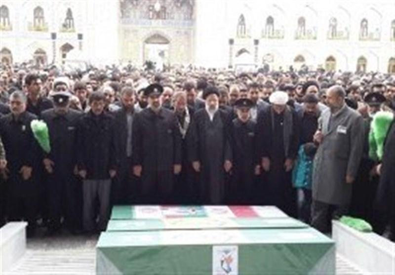 تشییع و خاکسپاری سه شهید فاطمیون در مشهد مقدس