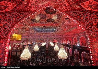 Pilgrims in Shiite Holy Shrines in Iraq's Najaf, Karbala