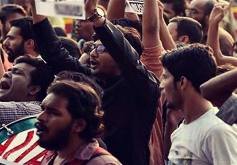 بھارت میں حق کی آواز/ اسرائیلی صدر کی آمد کے خلاف احتجاجی مظاہرہ