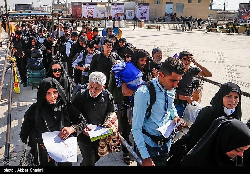ایران عراق بارڈر مہران بند/ زائرین چذابہ اور شلمچہ سرحدوں کے ذریعے عراق داخل ہوں