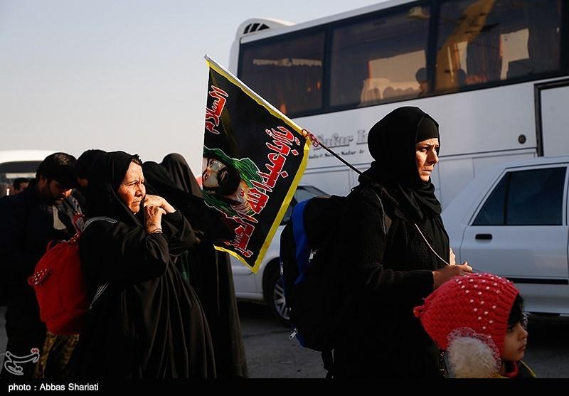 خروج زائران اربعین حسینی از گیت مرزی چذابه