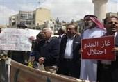 تظاهرات اردنیها در مخالفت با توافقنامه انتقال گاز رژیم صهیونیستی به این کشور