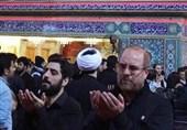 عکس/قالیباف و مداح مشهور در حرم امام علی (ع)