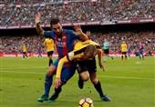 بارسلونا در خانه مقابل تیم 9 نفره مالاگا متوقف شد