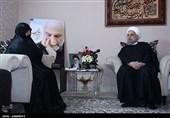 حضور رئیس جمهور در منزل سردار شهید حسین همدانی