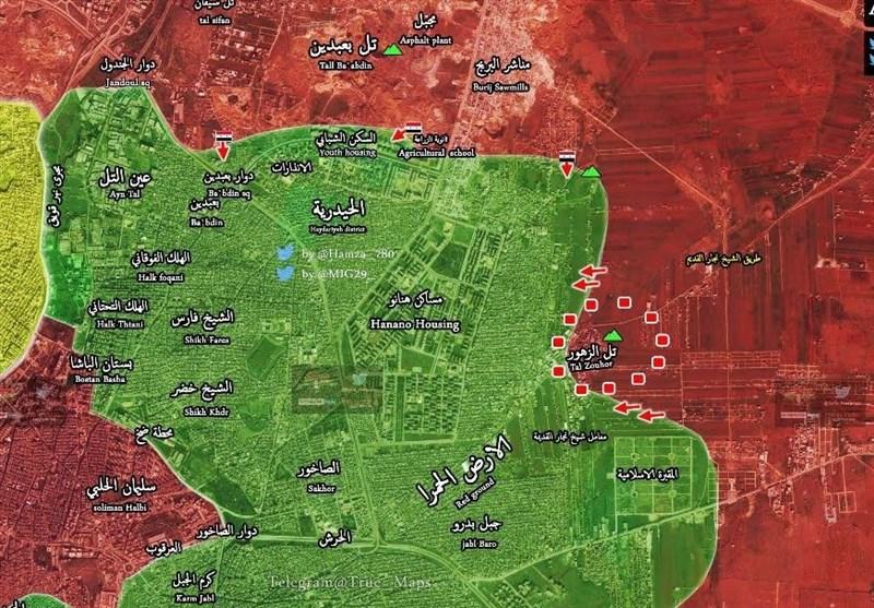 حلب پیشروی ارتش