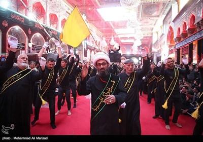 مراسم عزاداری روز اربعین در کربلا