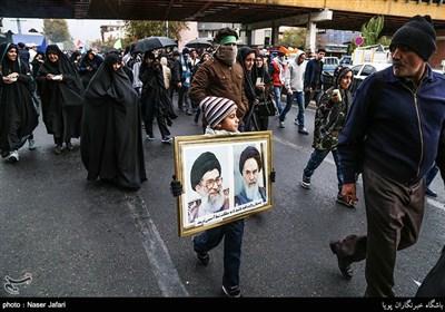 مراسم پیادهروی جاماندگان اربعین حسینی در تهران