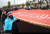 دسته عزاداری قمیها در شهر کربلا برپا شد