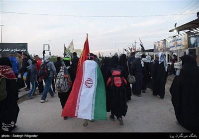 پیاده روی آخرین گروه زائران اربعین حسینی به کربلا