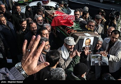 مراسم تشییع پیکر مرحوم حسن شایانفر