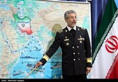 نشست خبری امیر سیاری فرمانده نیروی دریایی ارتش جمهوری اسلامی