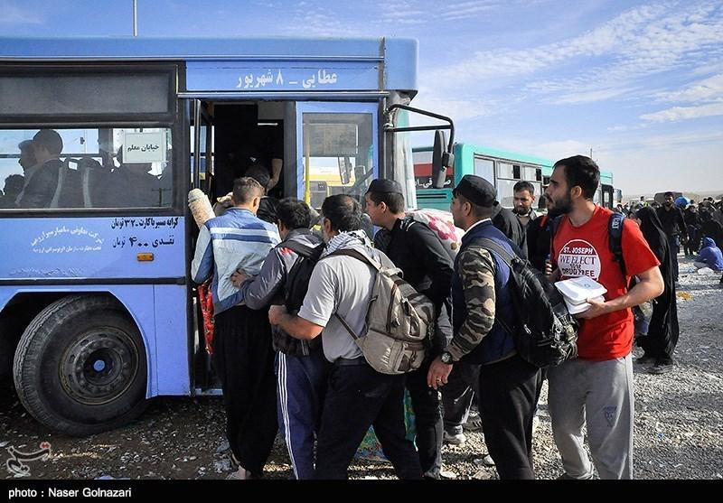 بازگشت زائران اربعین حسینی - مرز مهران