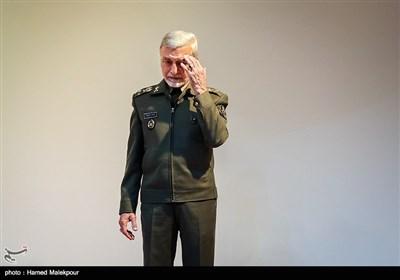 سرلشکر عطاءالله صالحی فرمانده کل ارتش در مراسم تودیع و معارفه فرمانده نیروی زمینی ارتش