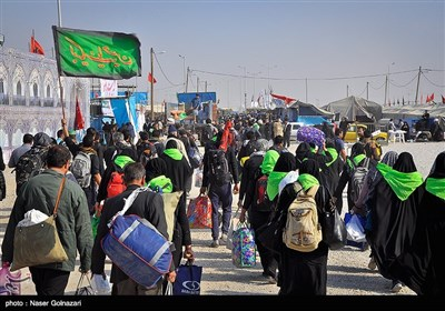 Iranian Pilgrims Returning Home from Iraq after Arbaeen