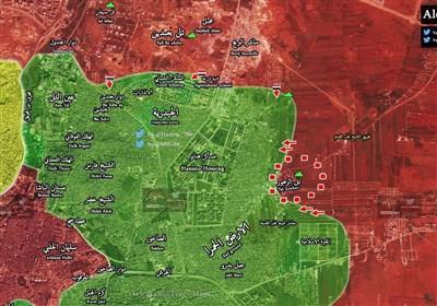 احتدام المعارک بین الجیش السوری والإرهابیین على محاور أحیاء شرقی حلب