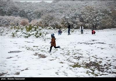 بارش برف در گرگان
