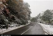 بارش برف در ییلاقات رحیم آباد - گیلان