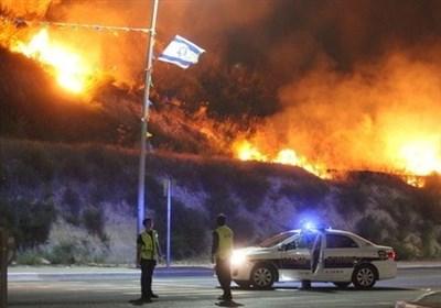الکیان الصهیونی یحترق
