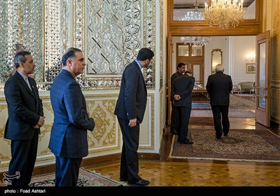 استقبال وزیر الخارجیة الایرانی نظیره الترکی