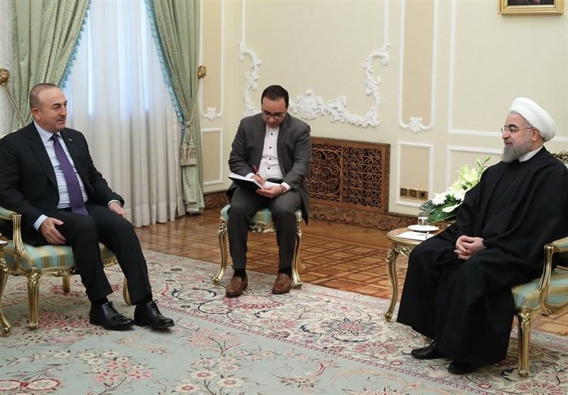روحانی: الامن فی العراق وسوریا ینبغی ان یکون اساسا للتعاون بین ایران وترکیا