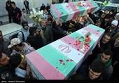 تشییع دو شهید گمنام در یافت اباد