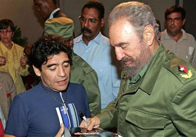 مارادونا: 8 ساعت با کاسترو حرف زدم و خسته نشدم / یک دقیقه هم با ترامپ یا هیلاری حرف نمیزنم