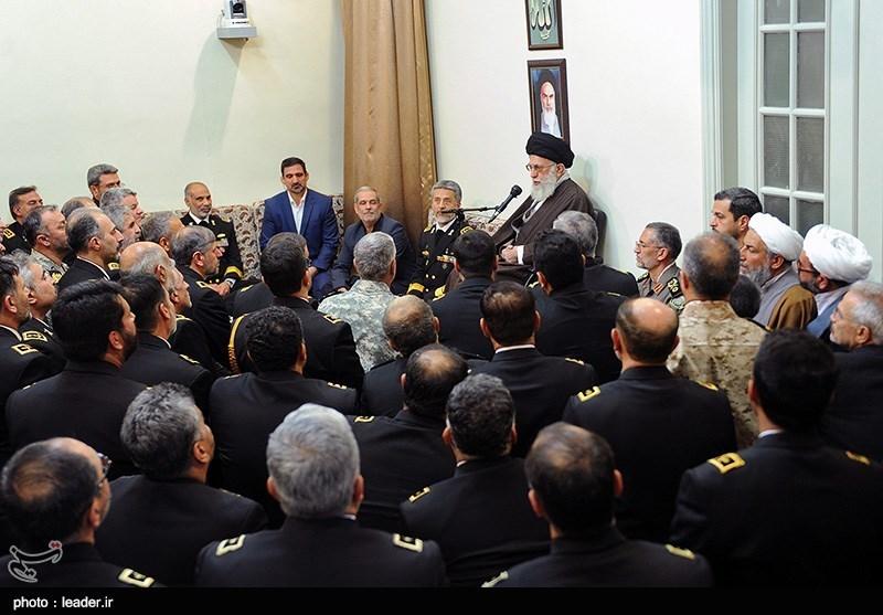 دیدار فرماندهان نیروی دریایی ارتش با مقام معظم رهبری