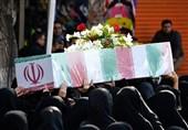 تشییع شهید گمنام در تبریز