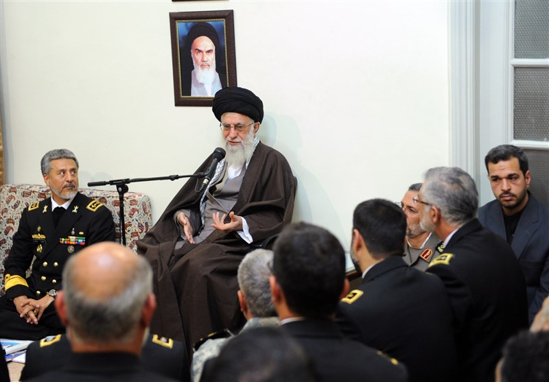 Leader Urges Iranian Navy's Stronger Presence in High Seas