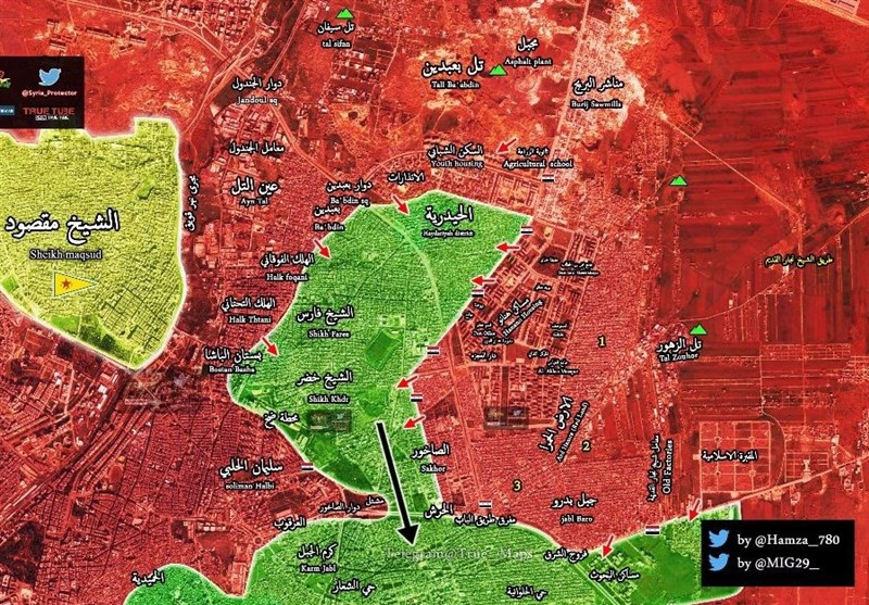 خریطة شرق حلب
