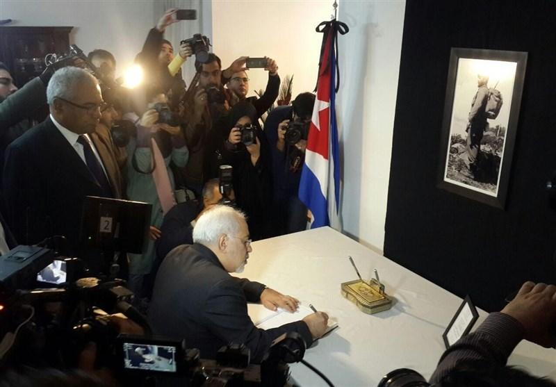 ظریف: مواجهة الامبریالیة العالمیة کانت من هواجس القائد کاسترو