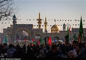 عزاداری هیئات مذهبی در روز عاشورا در حرم منور رضوی+فیلم