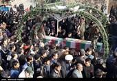 تشییع دو شهید گمنام در شهرک مشیریه