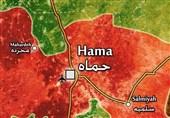 سوریه|دفع حملات تروریستها به مناطق نظامی در حماه